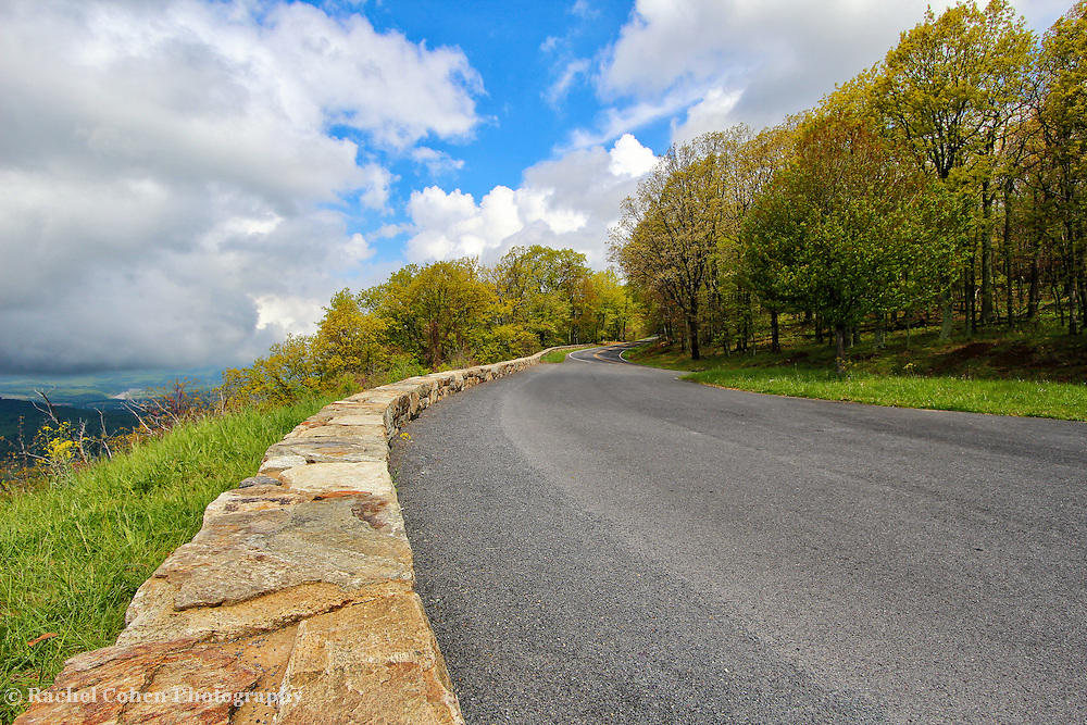 """""""If These Walls Could Talk""""<br /> <br /> Beautiful stone walls along Gooney Manor overlook, as well as a wonderful and scenic view!!<br /> <br /> The Blue Ridge Mountains by Rachel Cohen"""