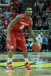 15 February 2014:  Ka'Darryl Bell during an NCAA Missouri Valley Conference (MVC) mens basketball game between the Bradley Braves and the Illinois State Redbirds  in Redbird Arena, Normal IL.