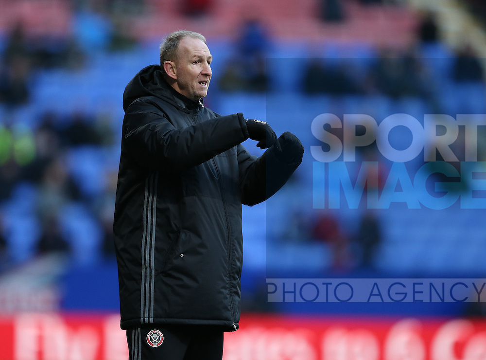 Alan Knill assistant manager of Sheffield Utd during the FA Cup Second round match at the Macron Stadium, Bolton. Picture date: December 4th, 2016. Pic Simon Bellis/Sportimage