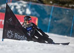 Sato Emi during the women's Snowboard giant slalom of the FIS Snowboard World Cup 2017/18 in Rogla, Slovenia, on January 21, 2018. Photo by Urban Meglic / Sportida