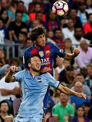 August 10, 2016 - Barcelona, Spain - Sergi Roberto and Vasco Regini during the match corresponding to the Joan Gamper Trophy, played at the Camp Nou stadiium, on august 10, 2016. (Credit Image: © Joan Valls/NurPhoto via ZUMA Press)