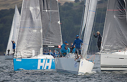 Largs Regatta Festival 2018<br /> <br /> Day 1 - RC35 Class start with GBR 732R, Wildebeeste, Craig Latimer, Ker 32 and GBR9470R, Banshee, Charlie Frize, CCC, Corby 33.<br /> <br /> Images: Marc Turner