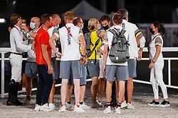 Team Belgium, Bruynseels Niels, Guery Jerome, Wathelet Gregory, Devos Pieter, ....<br /> Olympic Games Tokyo 2021<br /> © Hippo Foto - Dirk Caremans<br /> 07/08/2021