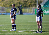 Rugby Union - 2021 Women's Six Name - Third Place Final - Scotland vs Wales - Scotstoun Stadium<br /> <br /> Scotland players during the national anthem<br /> <br /> Credit: COLORSPORT/BRUCE WHITE