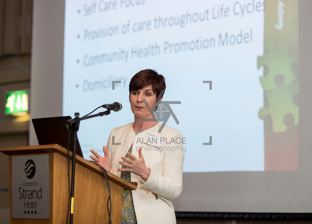 23.05.2018.       <br /> Today, the Institute of Community Health Nursing (ICHN) hosted its2018 community nurseawards in association withHome Instead Senior Care,at its annual nursing conference, in the Strand Hotel Limerick, rewarding public health nurses for their dedication to community care across the country. <br /> <br /> Pictured at the event was Catherine Whitty, National Practice Development Coordinator ONMSD 'Towards a Shared Concept for Community Nursing. Picture: Alan Place
