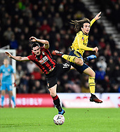 Lewis Cook (16) of AFC Bournemouth battles for possession with Matteo Guendouzi (29) of Arsenal during the The FA Cup match between Bournemouth and Arsenal at the Vitality Stadium, Bournemouth, England on 27 January 2020.