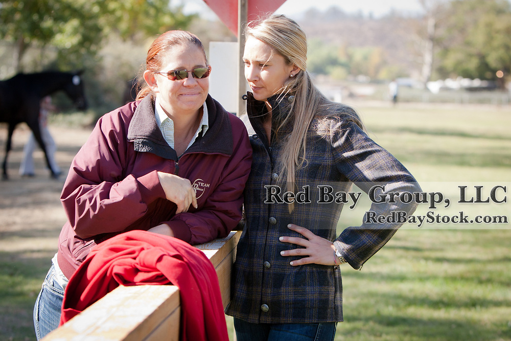 Sarah Broussard-Kelly and Frankie Thieriot at the Galway Downs International Three-Day Event in Temecula, California.
