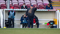 06MAR21 Arbroath's manager Dick Campbell. Arbroath 2 v 4 Queen of the South, Scottish Championship played 6/3/2021 at Arbroath's home ground, Gayfield Park.