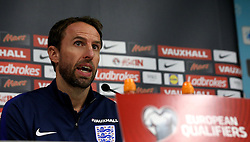 England interim manager Gareth Southgate takes questions during the Press Conference ahead of the World Cup Qualifier against Slovenia - Mandatory by-line: Robbie Stephenson/JMP - 10/10/2016 - FOOTBALL - SRC Stozice - Ljubljana, England - England Press Conference
