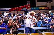 Ramses Palma celebrates during a baseball game between the Naranjeros de Hermosillo and Aguilas de Mexicali at the Cashman Field in Las Vegas, Friday, Sept. 22, 2017. (Joel Angel Juárez / Las Vegas Review-Journal)