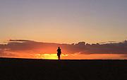 Jurassic Coast Dorset.  Sunset at West Bay Beach