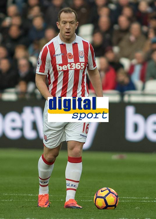 Football - 2016 / 2017 Premier League - West Ham United vs. Stoke City<br /> <br /> Charlie Adam of Stoke City at The London Stadium.<br /> <br /> COLORSPORT/DANIEL BEARHAM