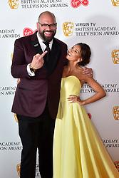Tom Davis and Michelle Keegan at the Virgin TV British Academy Television Awards 2018 held at the Royal Festival Hall, Southbank Centre, London.
