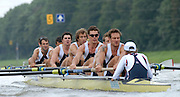 Amsterdam, HOLLAND, GBR M8+ Bow, Tom PARKER, Tom STALLARD, TOM LUCY, Hugo LEE, Josh WEST, Ric EGINGTON, Robin BOURNE-TAYLOR and Alastair HEATCOTE cox Acer NETHERCOTT,  during their semi final, at the 2007 FISA World Cup Rd 2 at the Bosbaan Regatta Rowing Course. 23.06.2007[Mandatory Credit: Peter Spurrier/Intersport-images]..... , Rowing Course: Bosbaan Rowing Course, Amsterdam, NETHERLANDS