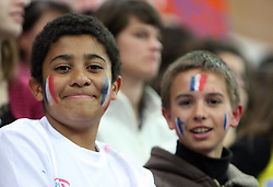 French Fans at the Opening ceremony at the 1st day of  European Athletics Indoor Championships Torino 2009 (6th - 8th March), at Oval Lingotto Stadium,  Torino, Italy, on March 6, 2009. (Photo by Vid Ponikvar / Sportida)