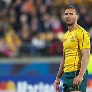 Quade Cooper, Australia, during the Australia V USA, Pool C match during the IRB Rugby World Cup tournament. Wellington Stadium, Wellington, New Zealand, 23rd September 2011. Photo Tim Clayton...