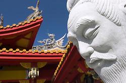 Detail of statue at Confucian Shrine Koshi Byo  in Nagasaki Japan