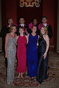 Committee members, naught Square Squirrel Hunt Inaugural Hunt Ball. Banqueting House, Whitehall. 8 September 2005. ONE TIME USE ONLY - DO NOT ARCHIVE  © Copyright Photograph by Dafydd Jones 66 Stockwell Park Rd. London SW9 0DA Tel 020 7733 0108 www.dafjones.com