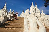 Myanmar (ex Birmanie), Mandalay, Site de Mingun, Paya Settawya  // Myanmar (Burma), Mandalay, Mingun site, Paya Settawya