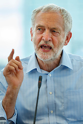© Licensed to London News Pictures. 31/08/2016. London, UK. Leader of the opposition and Labour leadership candidate JEREMY CORBYN speaks to outline how his policy agenda benefits women on Wednesday, 31 August 2016 at Unison Centre, London. Photo credit: Tolga Akmen/LNP