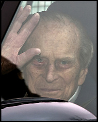 April 13, 2018 - London, London, United Kingdom - Image ©Licensed to i-Images Picture Agency. 13/04/2018. London, United Kingdom...HRH The Duke of Edinburgh leaves The King Edward Hospital in central London, following a hip replacement operation. (Credit Image: © Ben Stevens/i-Images via ZUMA Press)