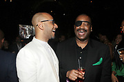 NEW YORK, NEW YORK-JUNE 4: (L-R) Music Producer/Arts Advocate Swizz Beatz aka Kasseem Dean and Recording artist Slick Rick the Ruler attend the 2019 Gordon Parks Foundation Awards Dinner and Auction Inside celebrating the Arts & Social Justice held at Cipriani 42nd Street on June 4, 2019 in New York City. (Photo by Terrence Jennings/terrencejennings.com)