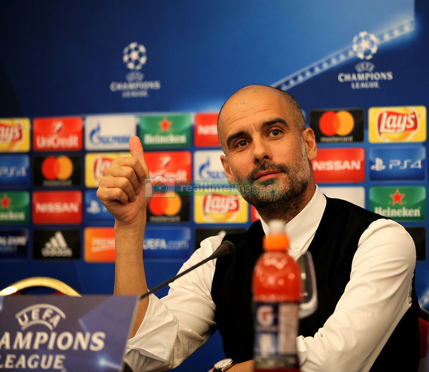 This evening at the Vesuvius hotel in Naples there was the press conference of Manchester City coach, Josep Guardiola and player David Silva who responded to journalists' doubts over the league's Champions League tomorrow against Napoli. in foto Guardiola