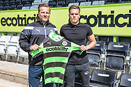 Charlie Cooper with manager mark Cooper after signing for Forest Green Rovers. Signing at the New Lawn, Forest Green, United Kingdom on 15 June 2017. Photo by Shane Healey.