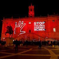 Giornata internazionale contro la violenza sulle donne a Roma