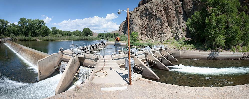 First major Rio Grande diversion dam at Del Norte, Colorado