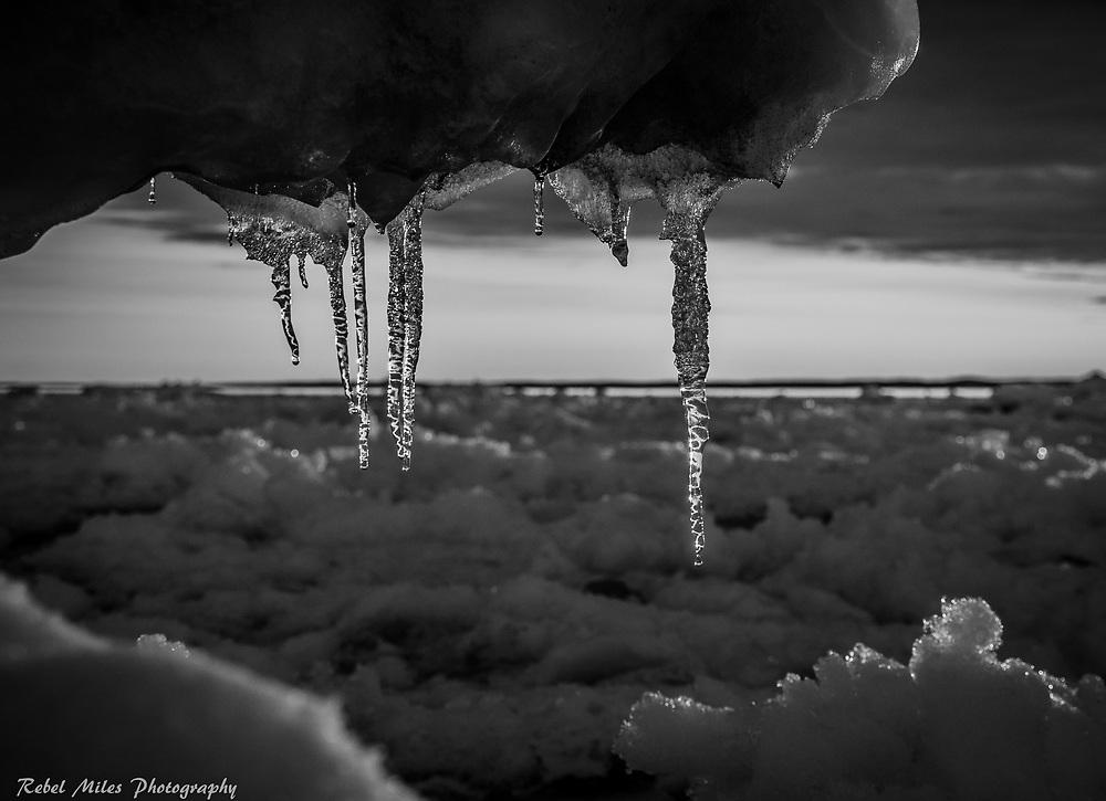 Lake Michigan Icicles - The Dark Look