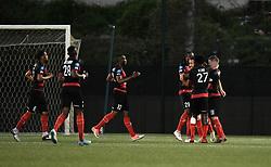 April 13, 2018 - Paris, France - Joie des joueurs de l equipe Boulogne Sur Mer (Credit Image: © Panoramic via ZUMA Press)