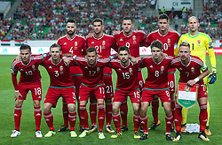 August 31, 2017 - Budapest, Hungary - Team Hungary before the World Cup qualification match between Hungary and Latvia at Groupama Arena on Aug 31, 2017 in Budapest, Hungary. (Credit Image: © Robert Szaniszlo/NurPhoto via ZUMA Press)