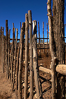Wood Fence at the Taos Pueblo Entrance. Image taken with a Nikon D800 and 35 mm f/1.4G lens (ISO 100, 35 mm, f/8, 1/1000 sec).