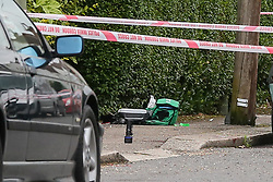 © Licensed to London News Pictures. 19/06/2019. London, UK. A medical kit on Wellbeck Road, Barnet, North London where three men were found to be suffering stab injuries on Tuesday 18 June 2019, just before 11pm. A man in his 30s was treated at the scene, but he was pronounced dead shortly after midnight. Two other men – one in his 20s and one in his 30s were taken to hospital for treatment.  Photo credit: Dinendra Haria/LNP