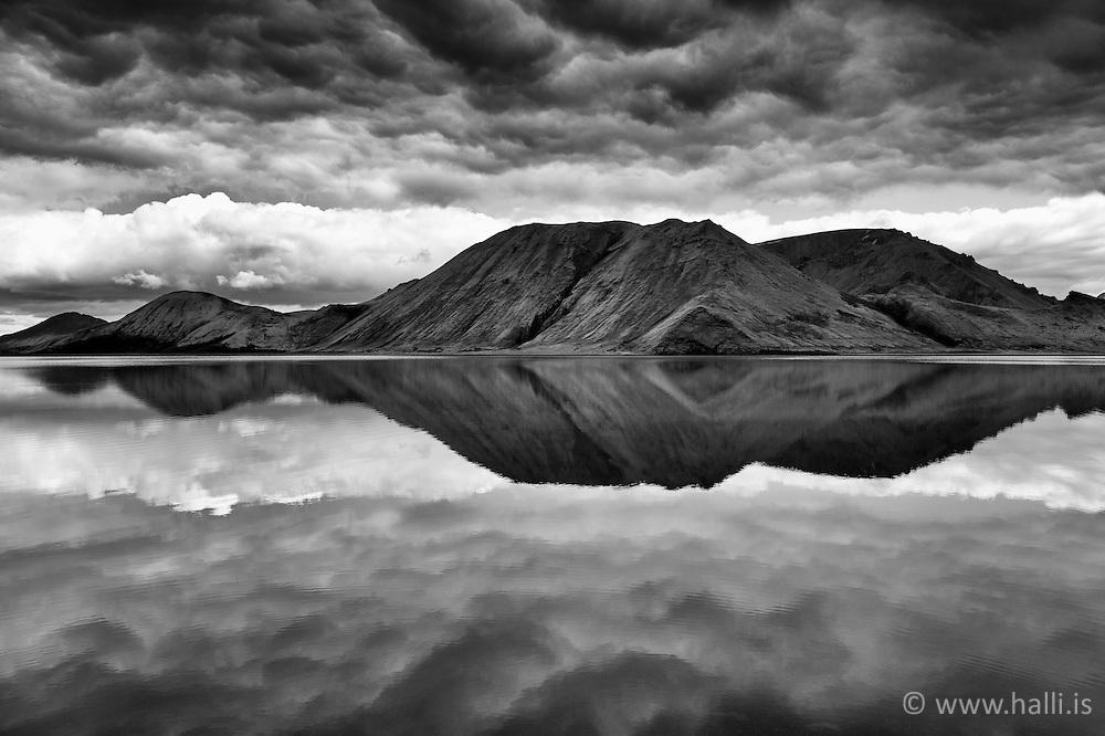 The lake Kirkjufellsvatn, highlands of Iceland -
