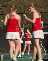 St Paul's School girls varsity tennis with Governor's.  ©2016 Karen Bobotas Photographer