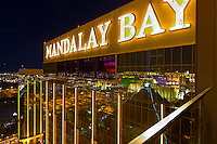 Night view, Mandalay Bay Resort and Casino, Las Vegas, Nevada USA