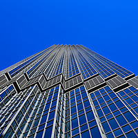 """""""IDS Tower Minneapolis"""" 3<br /> <br /> Love the color Blue?<br /> Blue sky and reflections on the IDS Tower""""<br /> Cities and Skyscrapers by Rachel Cohen"""