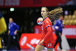 HERNING, DENMARK - DECEMBER 3, 2020: Jana Sustkova during the EHF Euro 2020 Group C match between Sweden and Czech Republic in Jyske Bank Boxen, Herning, Denmark on December 3 2020. Photo Credit: Allan Jensen/EVENTMEDIA.