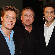 Kerstborrel Princess 2004, Winston Post, Gordon en Bas Muijs