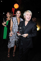 JESSICA DE ROTHSCHILD and NICK RHODES at the annual Serpentine Gallery Summer Party in Kensington Gardens, London on 9th September 2008.