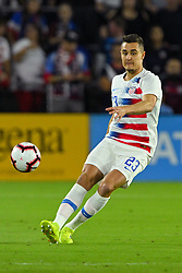 March 21, 2019 - Orlando, Florida, USA - US defender Aaron Long (23) during an international friendly between the US and Ecuador at Orlando City Stadium on March 21, 2019 in Orlando, Florida. .The US won the game 1-0...©2019 Scott A. Miller. (Credit Image: © Scott A. Miller/ZUMA Wire)
