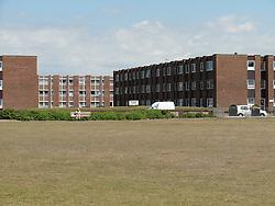 Blocks of flats at Blackpool.