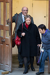 © Licensed to London News Pictures. 12/02/2018. London, UK. Chair of Oxfam CAROLINE THOMSON and Chief Executive of Oxfam MARK GOLDRING leaving the Department for International Development after a meeting about the charity's recent sex abuse scandal allegations. Photo credit : Tom Nicholson/LNP