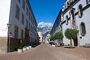 Austria, Hall in Tirol Mount Bettelwurf in the background.