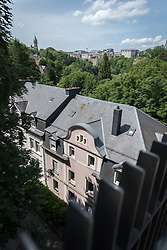 View over the Pétrusse valley in Luxembourg.
