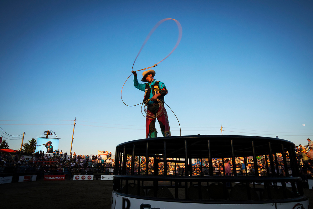 during the Ranchman's PBR event in Calgary, Alberta Thursday, July 6, 2017. Todd Korol/The Globe and Mail