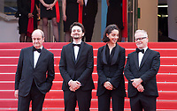 Cannes Film Festival President Pierre Lescure, Director A.B. Shawky and producer Elisabeth Shawky-Arneitz, Festival Director Thierry Fremaux at the Yomeddine gala screening at the 71st Cannes Film Festival, Wednesday 9th May 2018, Cannes, France. Photo credit: Doreen Kennedy