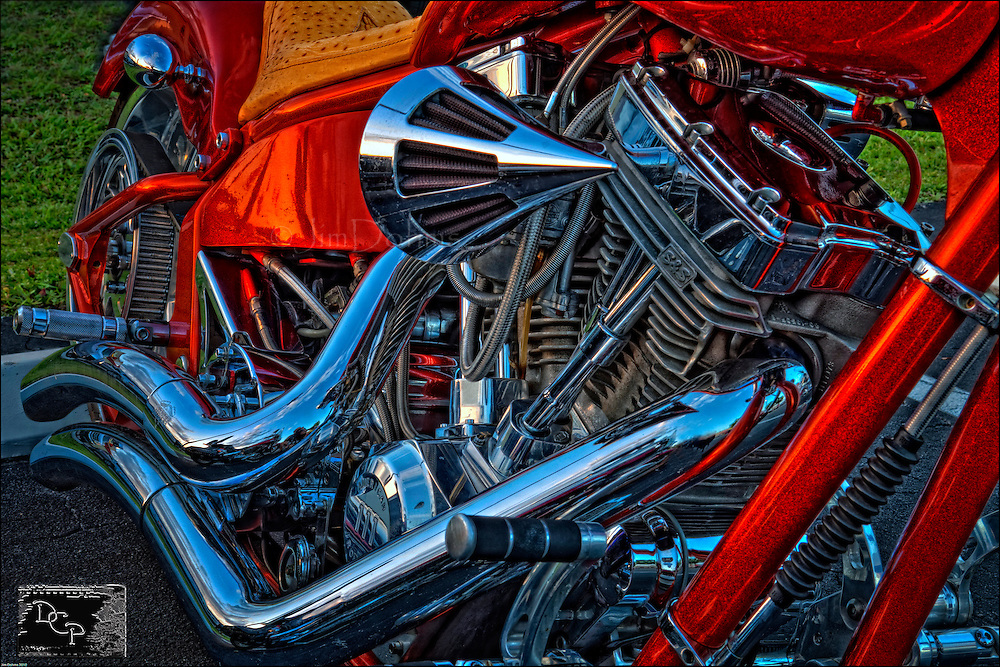 There are an assortment of great looking bikes at Hooters in Bradenton every fourth Thursday of the month.
